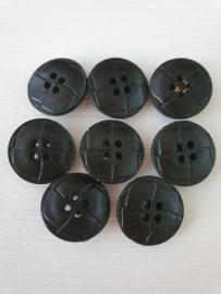 Zwarte kurk knopen 8 stuks