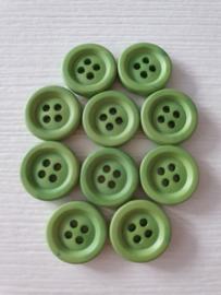Groene ronde knopen 10 stuks