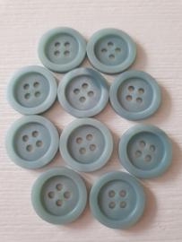 Lichtblauwe knopen middel 10 stuks