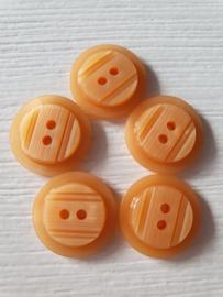 Oranje knopen 5 stuks