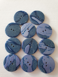 Blauwe knopen 11 stuks