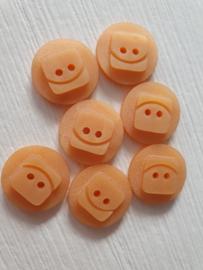 Oranje knopen 7 stuks