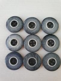 Zwart grijze knopen 9 stuks