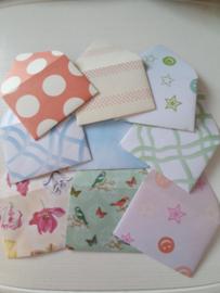Set van 9 mini enveloppen