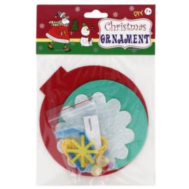 Viltpakket voor kinderen - Kerstbal hanger