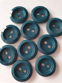 Donkergroene glimmende knopen 10 stuks