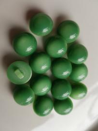 Groene ronde, bolle knopen 15 stuks