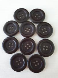 Zwarte knopen 10 stuks