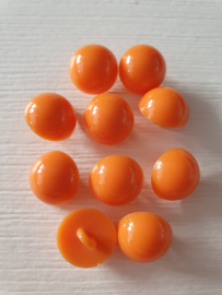 Bolle oranje knopen 10 stuks