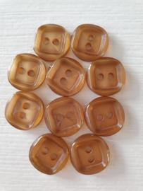 Bruine knoopjes 10 stuks