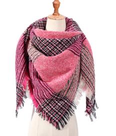 Roze sjaal geruit