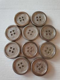 Zilverkleurige knopen 10 stuks