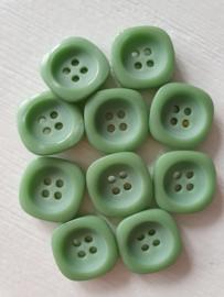 Groen knopen vierkant 10 stuks
