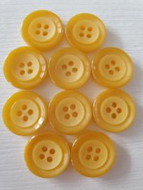 Gele ronde knopen 10 stuks
