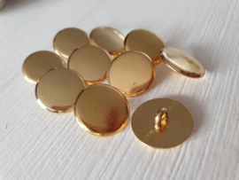 Goudkleurige knopen 10 stuks