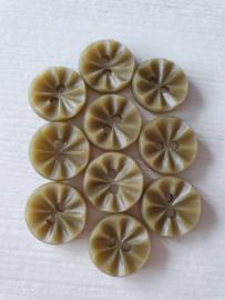 Groene Knoopjes  met Relief 10 stuks