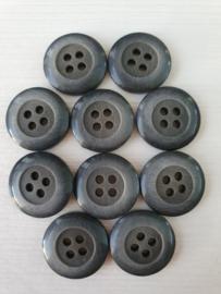 Zwart grijze knopen 10 stuks