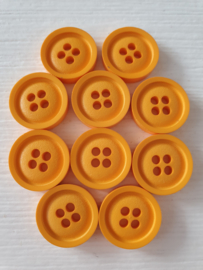 Gele knopen 10 stuks