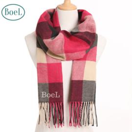 BoeL Sjaal rood blauw wit