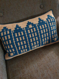 Canal Houses Cushion Yarn The after Party nr. 80 Blauw