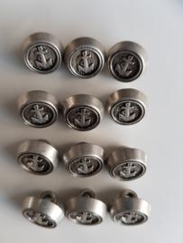 Zilveren navy knoopjes 12 stuks