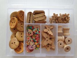 Doosje houten Knopen Klosjes & Handmade