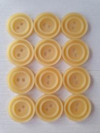Licht gele knopen 12 stuks