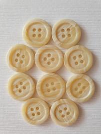 Crème witte ronde knopen 10 stuks