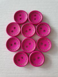 Roze houten knopen 10 stuks