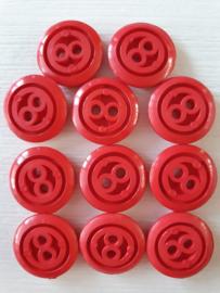 Rode knopen 10 stuks