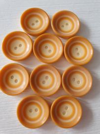 Oranje knopen 10 stuks