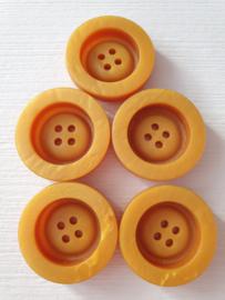 Mosterdgele knopen 5 stuks