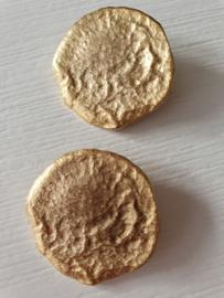 Goudkleurige knopen 2 stuks