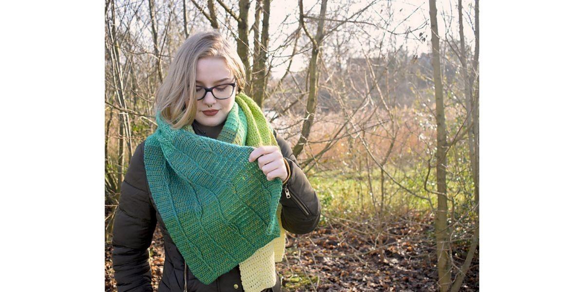 Gratis patroon sjaal catona
