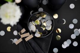35 Gram black gold confetti