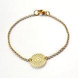 Armband met mandala goud