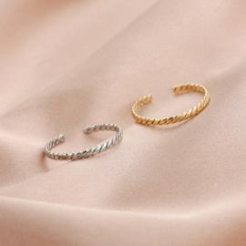 La Ash Ring goud en zilver