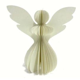 Paper Angel Ivory with White Cristina Glitter.