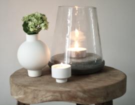 Windlicht beton en glas
