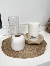 Nogesund witte keramische vaas