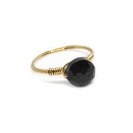 Power Story – Ring Onyx Goud Rond