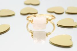 Story Love – Ring Rozenkwarts Goud en Zilver
