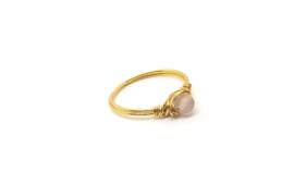 Mini Love – Ring Rozenkwarts Goud
