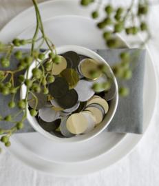 35 Gram Olive green gold confetti