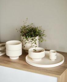 Kiaby white bowl and tealight holder