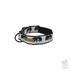 "KenDog Handgemaakte hondenhalsband ""Hondtjes"" - vuilafstotend S"