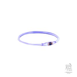 TRIXIE HALSBAND USB FLASH LIGHT LICHTGEVEND OPLAADBAAR BLAUW 65X0,8 CM