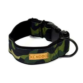 """KenDog Handgemaakte hondenhalsband """"Moro"""" - vuilafstotend S"""