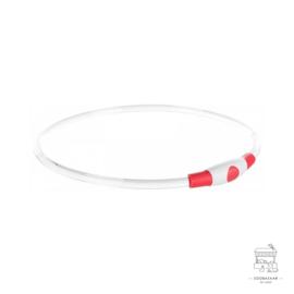 TRIXIE HALSBAND USB FLASH LIGHT LICHTGEVEND OPLAADBAAR ROOD 40X0,8 CM