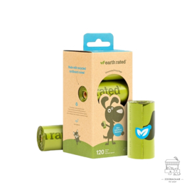 EARTH RATED POEPZAKJES GEURLOOS 120st